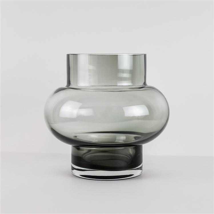 FORMS, LOW BUBBLE VASE - GREY