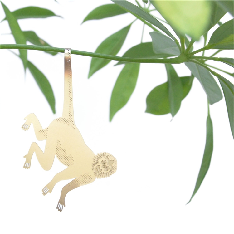 BRASS PLANT ANIMALS / MONKEY
