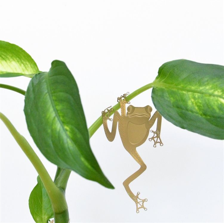 BRASS PLANT ANIMALS / TREE FROG